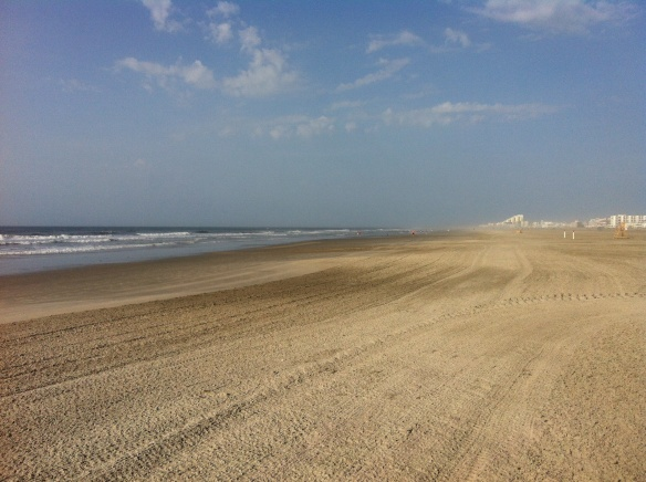 On the beach in Wildwood Crest, NJ.