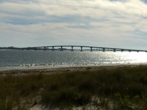 The bridge between O.C. and Longport, and the view from the top, looking toward Ocean City