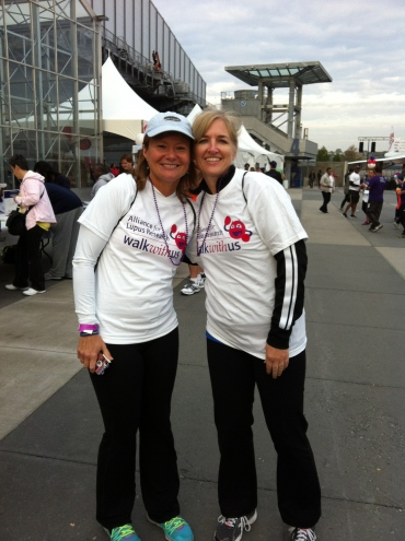 30-year friends, walking for a cause