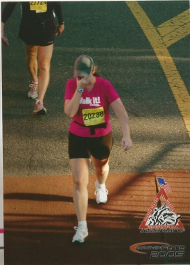 Crossing my first finish line was a very emotional experience!