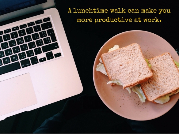 A lunchtime walk can make you more productive at work.