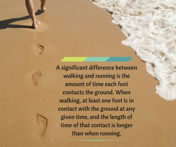 A significant difference between walking and running is the amount of time